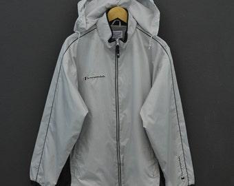d1ffadc6bac7 Champion Windbreaker Men Size M/L Vintage Champion Jacket Silver Grey Track  Top