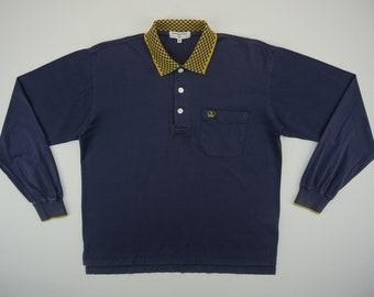 9aac98357073 Valentino Shirt Men Size S 80s 90s Valentino Garavani Polo Shirt Vintage  Preppy Designer Long Sleeve Shirt Size 48