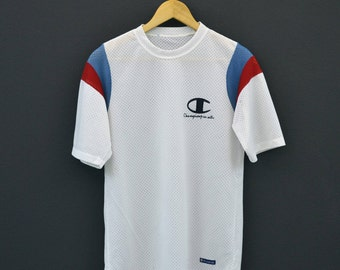 Champion Jersey Men Size S 80s 90s Champion Mesh Jersey Colorblock T Shirt  Made in Japan ce9cf80ac
