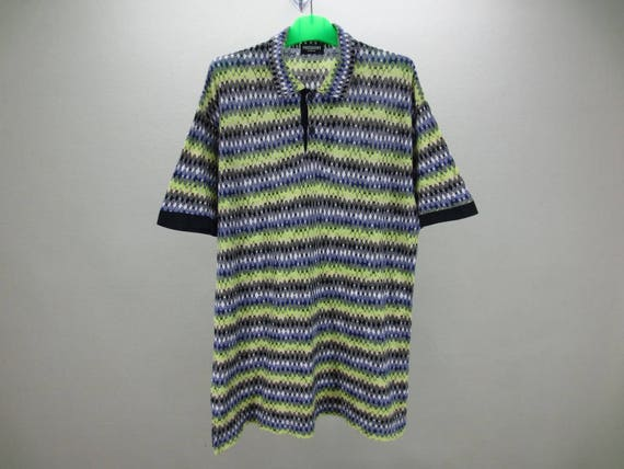 Missoni homme chemise taille M ~ Missoni Intimo Polo Shirt ~ chemise multicolore Missoni ~ Made in Japan