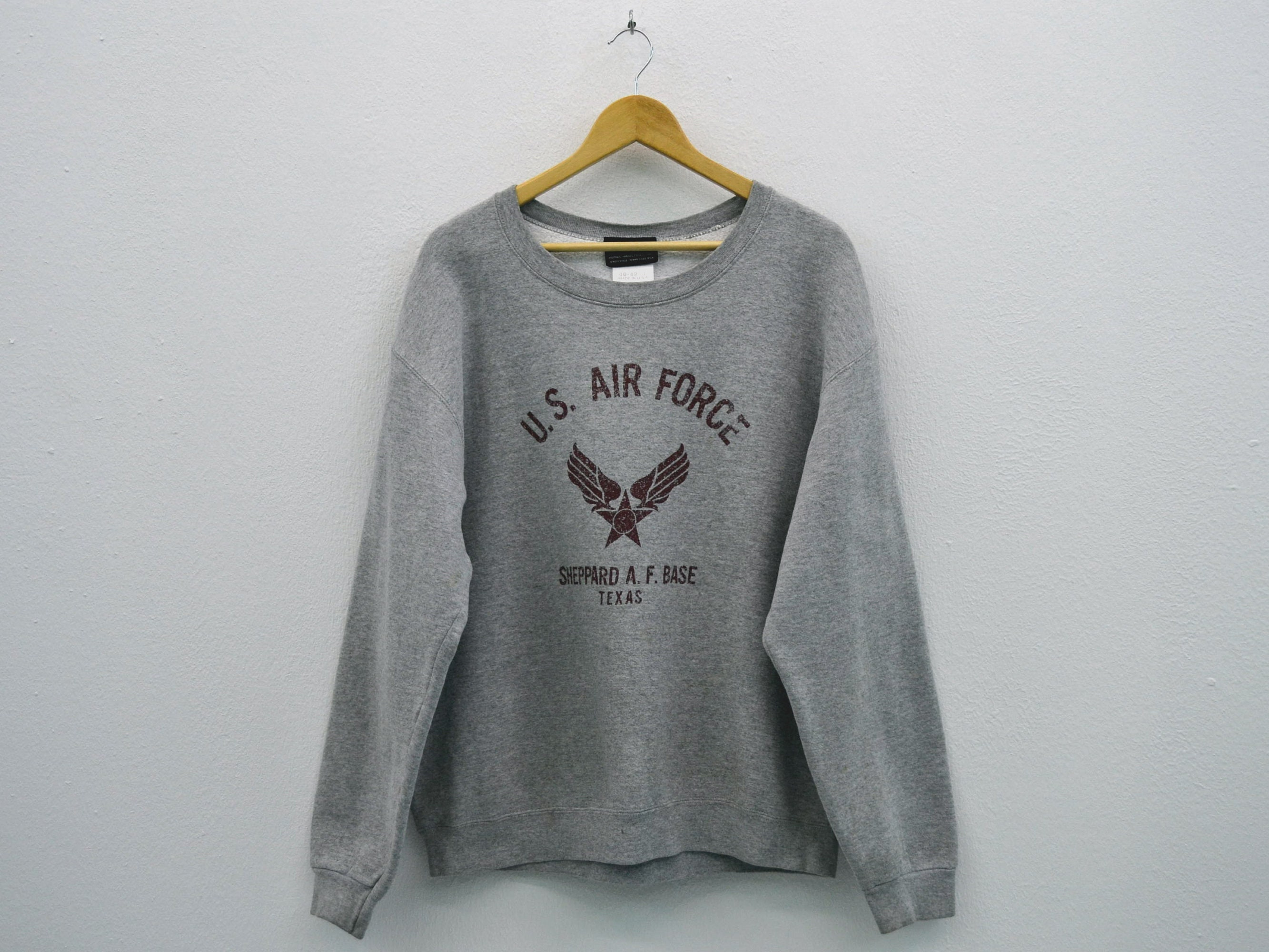 Alpha Industries Sweat ~ homme taille L ~ pull Vintage Industries Alpha Industries Vintage ~ Alpha Industries Vintage U.S. Air Force sueurs ~ Made in USA eb1b47
