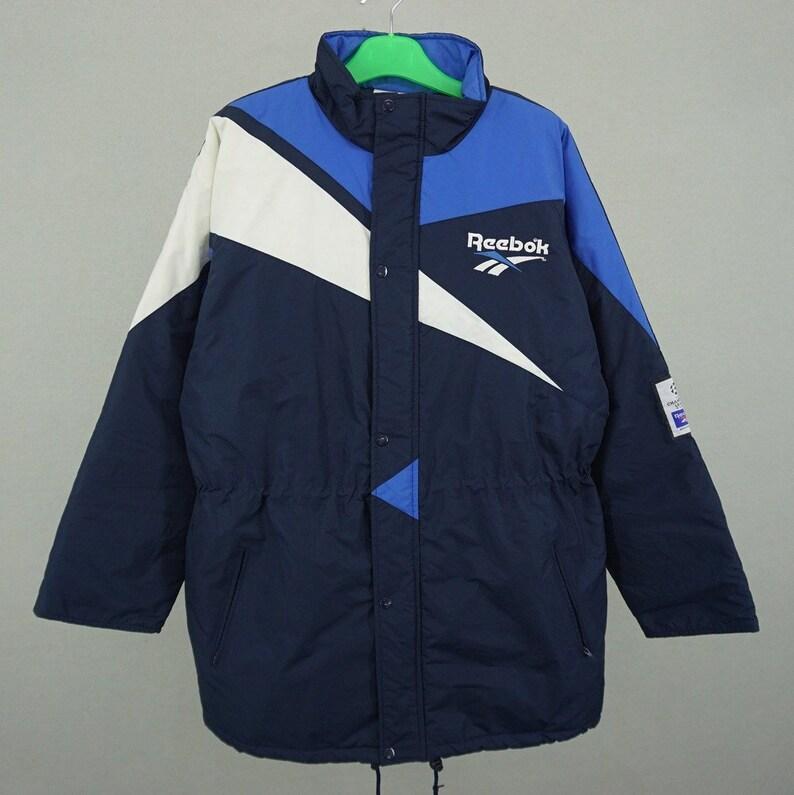 6e51985a86820 Reebok Jacket Men Size L 90s Reebok Windbreaker Vintage UEFA Champions  League Jacket