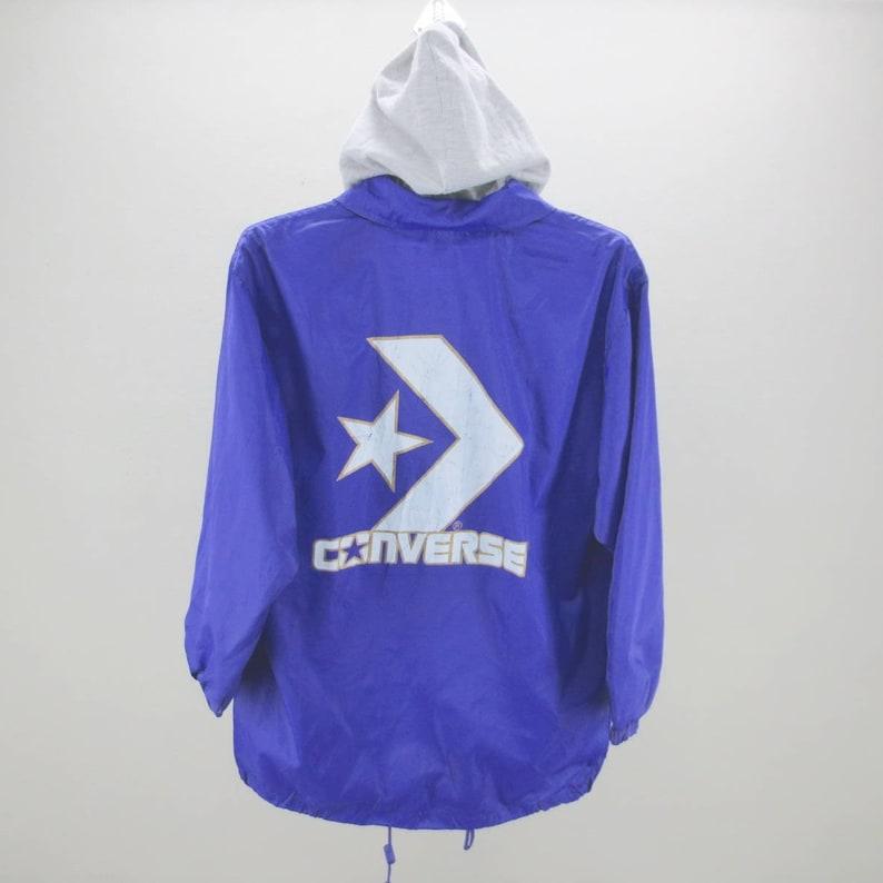 f0797b0f53 Converse Vintage Jacket Women Size S 90s Converse Windbreaker
