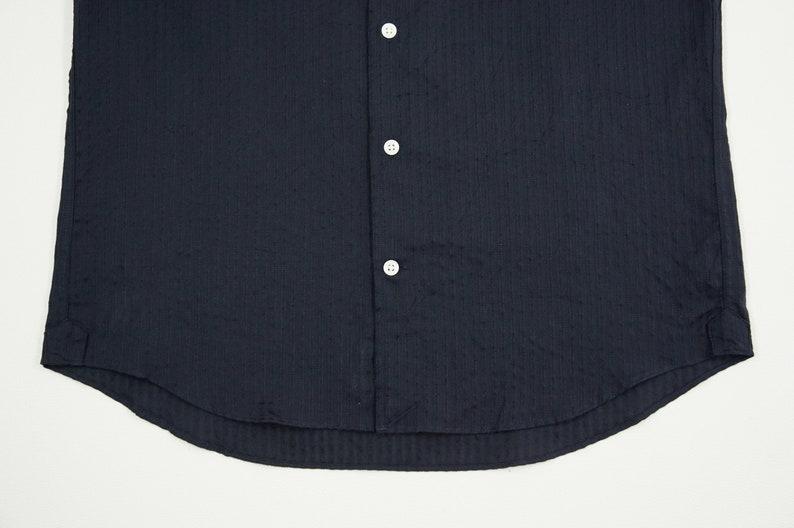 Aquascutum Button Down Shirt Men Size M Aquascutum Shirt Solid Casual Shirt Made in Japan