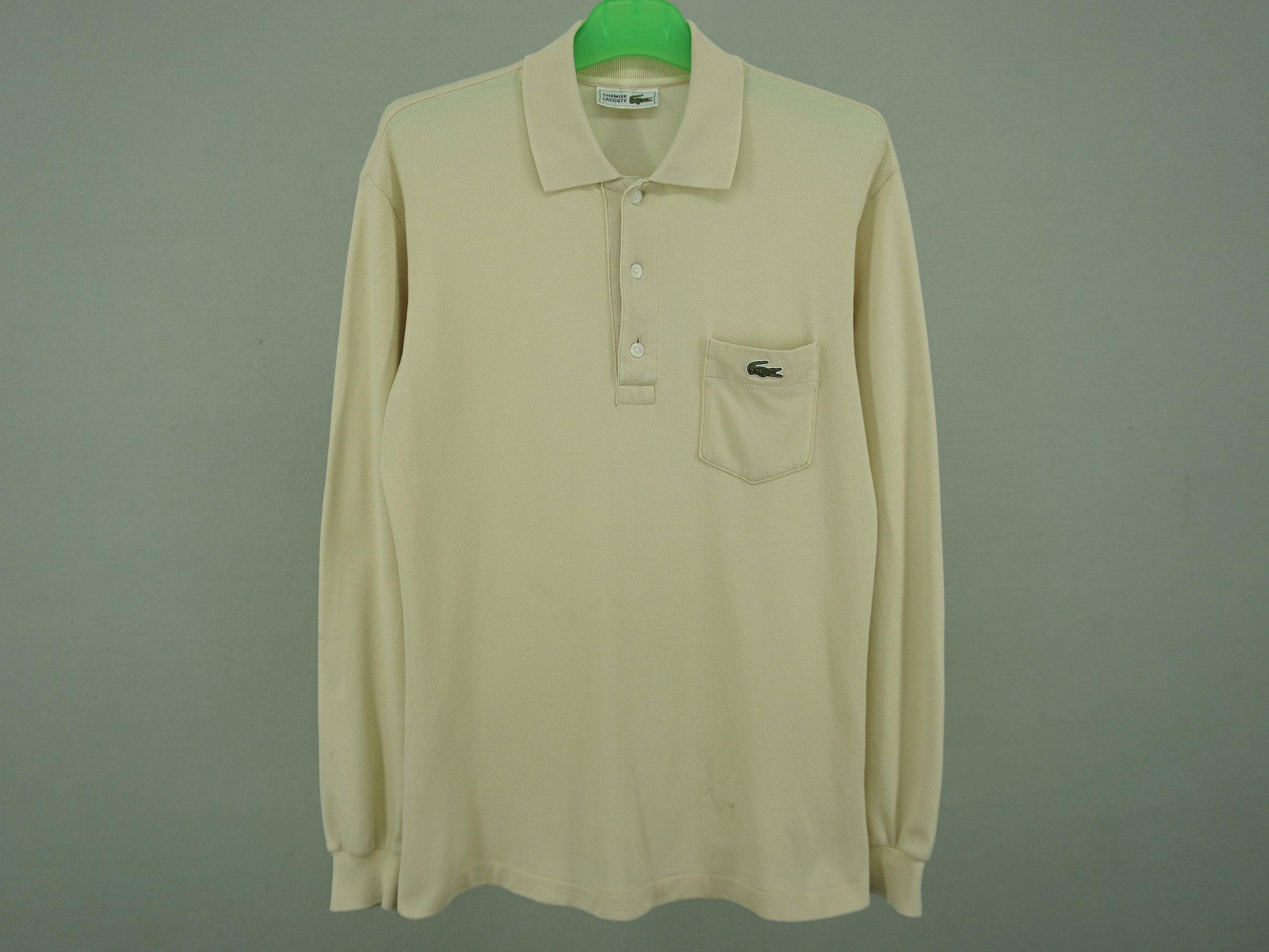 Lacoste Vintage Polo Shirt Men Size M L 90s Etsy Tas Zip Basic Special Colours