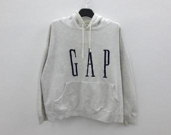GAP Vintage Hoodie Mens Size S/M ~ 90s GAP Sweatshirt ~ Gap Vintage Embroidered Sweats ~ Made in Korea