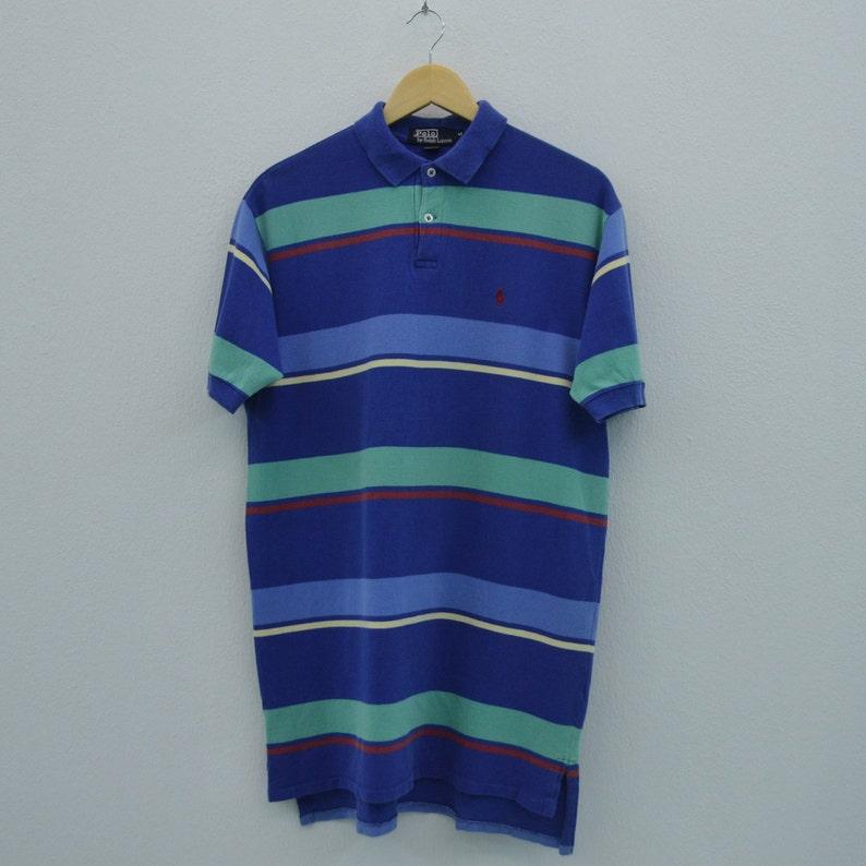 b111eae3b071b Polo Ralph Lauren Shirt Men Size M 90s Polo Ralph Lauren Polo Shirt Vintage  Multicolor Striped Shirt Made in USA