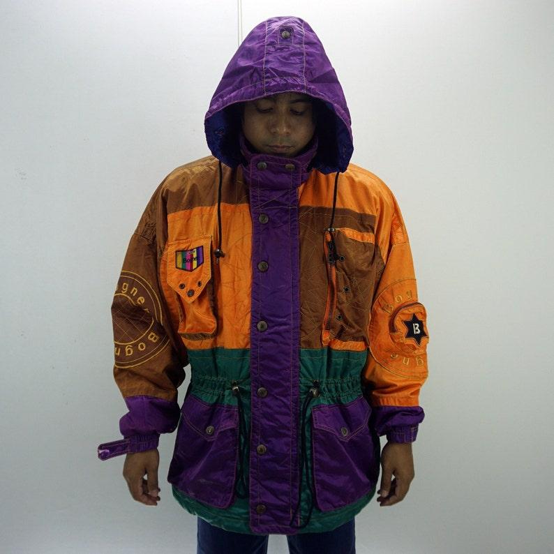 amazing price excellent quality catch Bogner Vintage Jacket Men Size S/M 90s Bogner Windbreaker Vintage  Colorblock Winter Jacket BION II Fabrics