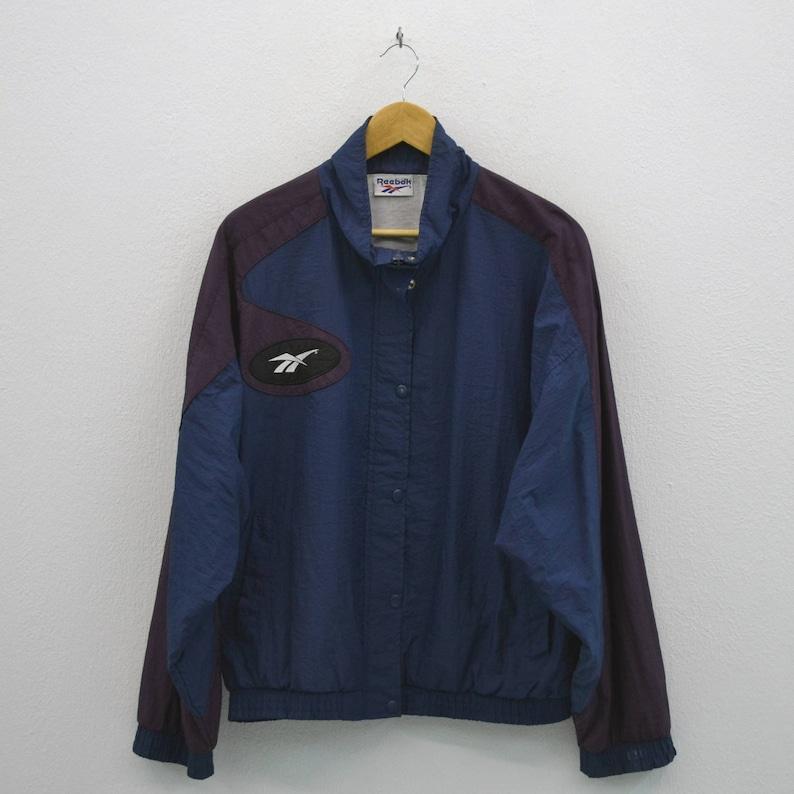 9f0ee7e73283c Reebok Vintage Jacket Women Size L 90s Reebok Windbreaker Vintage Track Top
