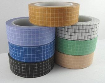 Washi Tape Sample - Grid Washi - Simple Washi