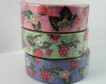 Washi Tape Sample - Simply Gilded Washi - Strawberry Washi