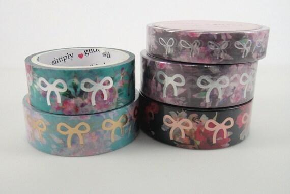 Washi Tape Sample neon washi Simply Gilded 10mm bow washi