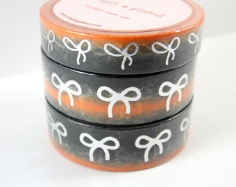 Washi Tape Sample - Simply Gilded Washi - Bow Washi - Foil Washi - Halloween Washi