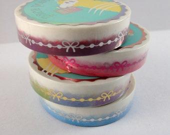 Washi Tape Sample - Paca Post Washi - Bow Line Washi - Foil Washi - Bow Washi