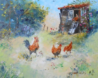 """Painting """"In the Henhouse"""""""