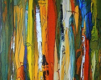 Painting Abstract picture,  Earth's crusts