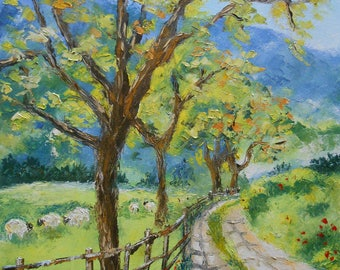 Painting Country road