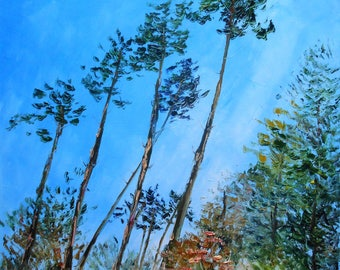 Painting Clearing of pines