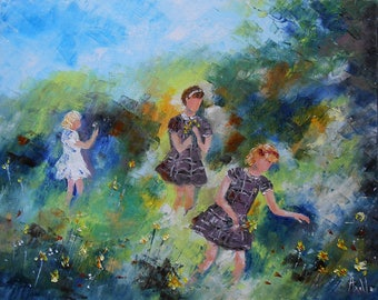 """Painting flowers """"The picking of daffodils"""""""