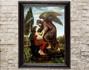 Angel Of Death Reaper Scythe Dark Picture Gothic Home Decor Painting Goth Wall Art 383