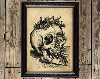 Skull, Otto Dix, dead head, human skull, skull picture, skull painting, skull decor, skull design, human skull reproduction, macabre art,139