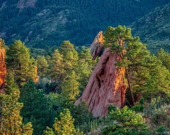 Red Rock Canyon photo canvas – Colorado Springs red rock photography – Framed print – Southwest rock formation – Colorado travel souvenir