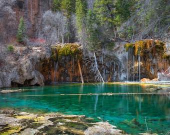 Hanging Lake photography – Colorado Hanging Lake canvas picture – Colorado photography landscape photo – Glenwood Springs nature photo print