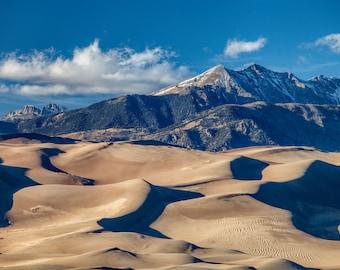 Great Sand Dunes photo – Colorado sand dunes photograph – Vacation souvenir travel gift – National park canvas wall art – Colorado landscape