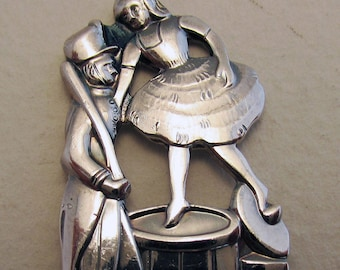 The Steadfast Tin Soldier-Danish/Denmark. Hans Christian Andersen Fairy Tales Children Story NOVELTY Solid Silver Spoon. COHR