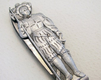 Rare Joseph Feist (c1898-1924) Solingen Germany Metal Novelty Figural Folding Pocket Knife Penknife. Omega mark.