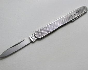 Art Deco 1938 Sheffield English Vintage Sterling Silver Stainless Steel, Pocket Fruit Pen Knife Folding Penknife. John Watts.