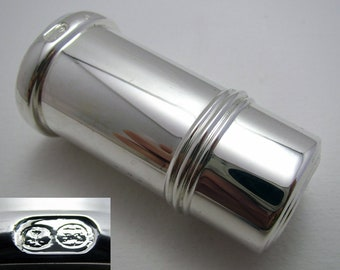Silver Plated Toothpick Holder Container Pot (c1990) Art Deco Style