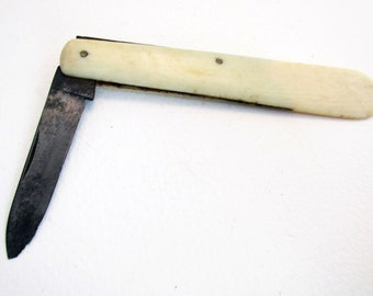 Rare Victorian (c1900) Antique Combination Folding Penknive Knive & Letter Opener. John Petty Sheffield.
