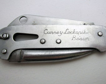 The Malcolm Miller, Bosun Lockspike Yachtsmans Schooner Folding Knife, Stainless Steel.