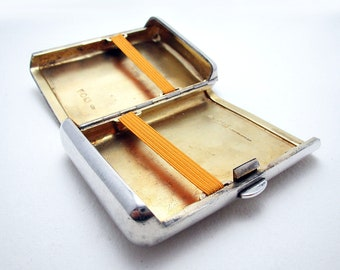 Rare Victorian Cigar Case, Antique Solid Sterling Silver Box. English Hallmarked. VIRTUTE ET OPERA