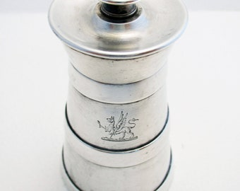 Rare VICTORIAN (1889) ANTIQUE Solid Sterling Silver English Pepper Mill/Grinder. Birmingham Hallmarked.