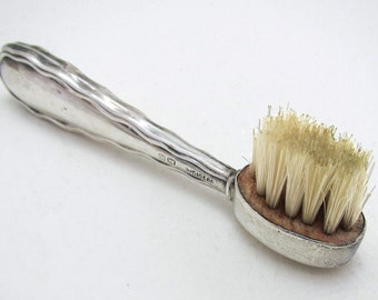 Antique Hallmarked (1918) Solid Sterling Silver English Moustache Brush Comb.