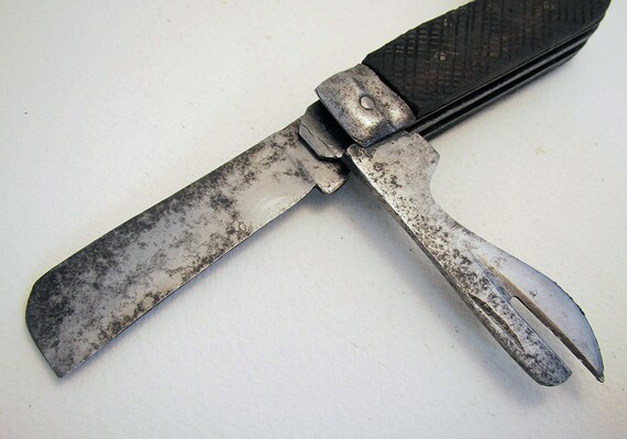World War 2 WWII British Army Military Vintage Folding Clasp Knife  Marlin  Spike Stamped D8