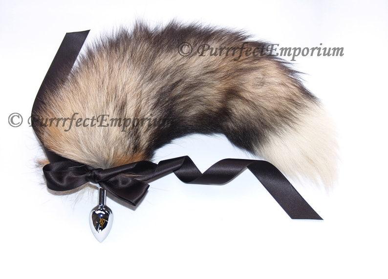 aa9a4694e Adult Brown Black Wolf Fox Butt Plug Cat Tail Customizable