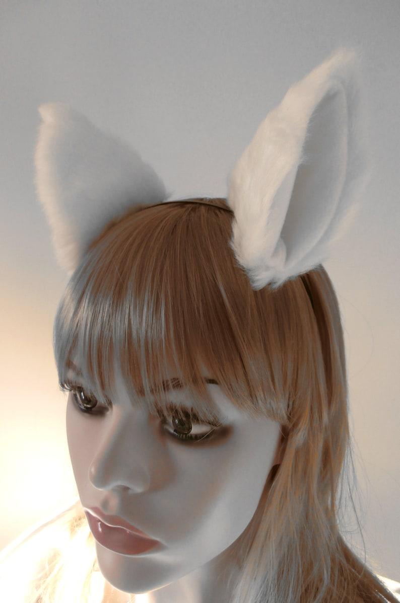 Realistic Cat Ears Lolita Cosplay Hair Clip Headband Handmade Fur