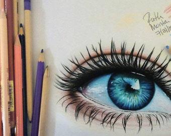 Color pencil sketch of 1 person or pet ( Buyer supplies photo)/ Drawing/ Portrait/ Sketch
