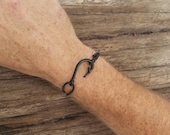 Men 39 s Fish Hook Bracelet, Fishing Gift for Man, Fishing Bracelet, Adjustable Bracelet