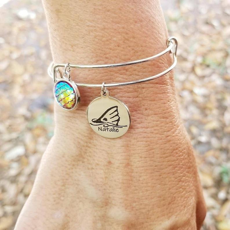 Personalized Adjustable Bangle Fishing Jewelry Bracelet image 0