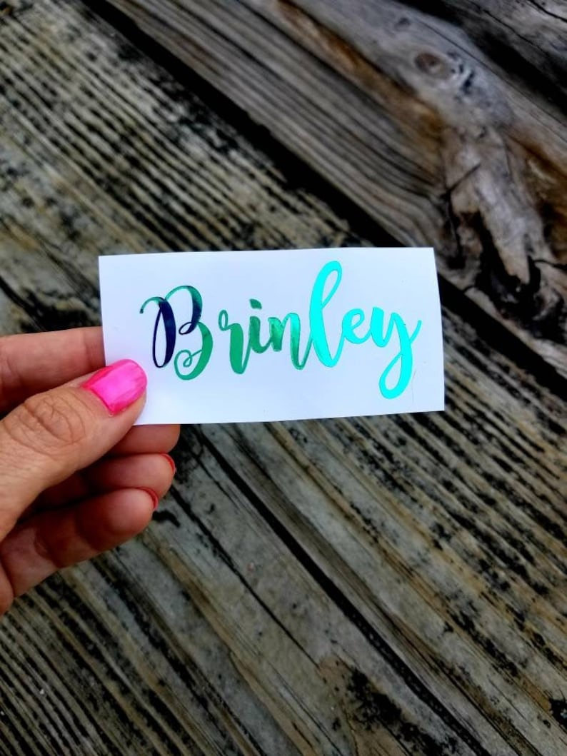 Custom Name Decal Personalized Name Decals Vinyl Decal for image 0