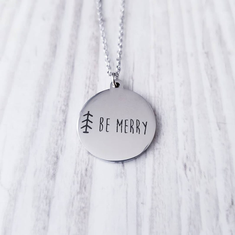 Tree Necklace Evergreen Holiday Necklace Jewelry Gift Be image 0