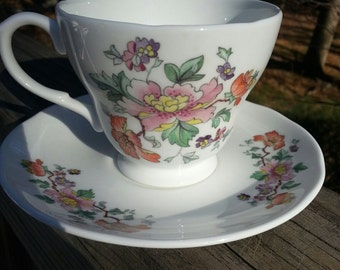 Bone China cup and saucer, china, Eaton Crown, shabby chic, bridal,