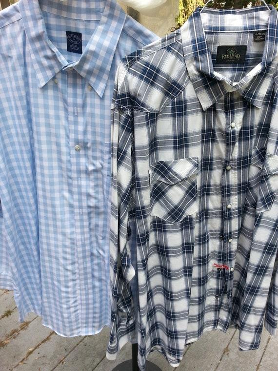 Brooks Brothers, REDHead, 3XL, 2 shirts, mens shir