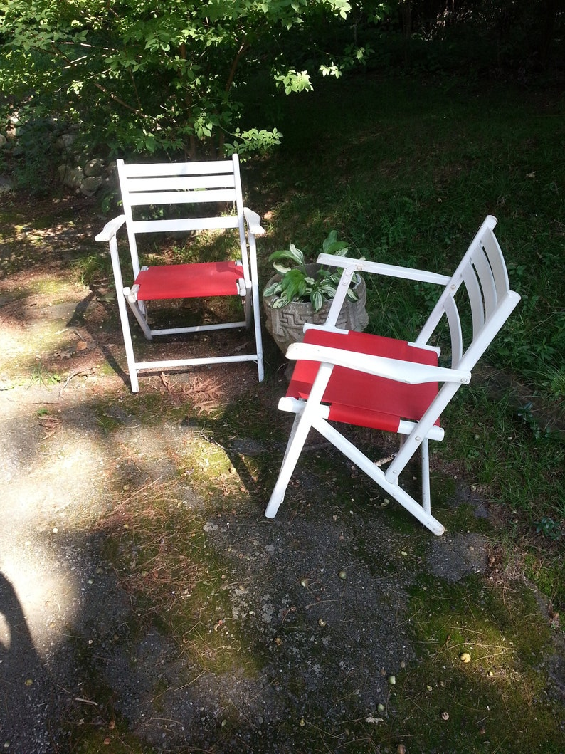 Wood Folding Chairs Vintage Lawn Chairs Vintage Wood Chairs Folding Chairs Deck Chairs Wood Deck Chairs Lawn Chairs