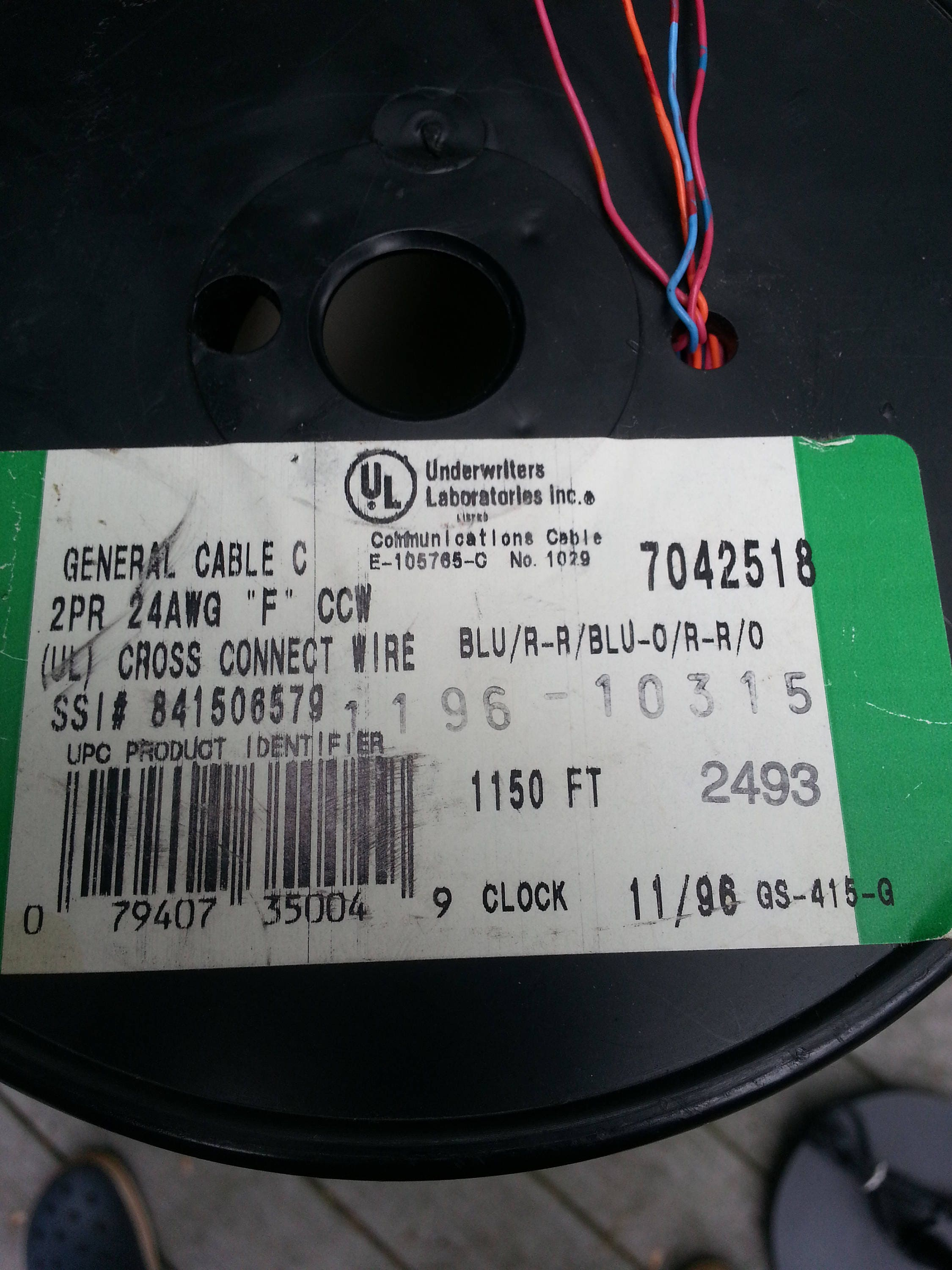 cross connect wire, 2 pr wire, general cable, copper wire, craft ...
