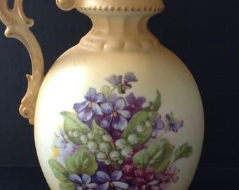 Vintage Ceramic Pitcher From Austria